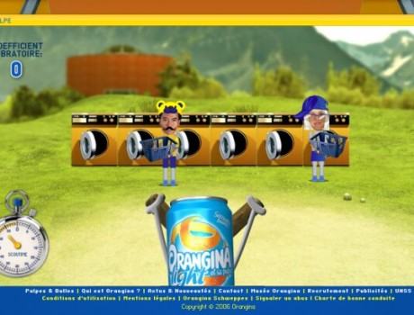 Orangina catapult game
